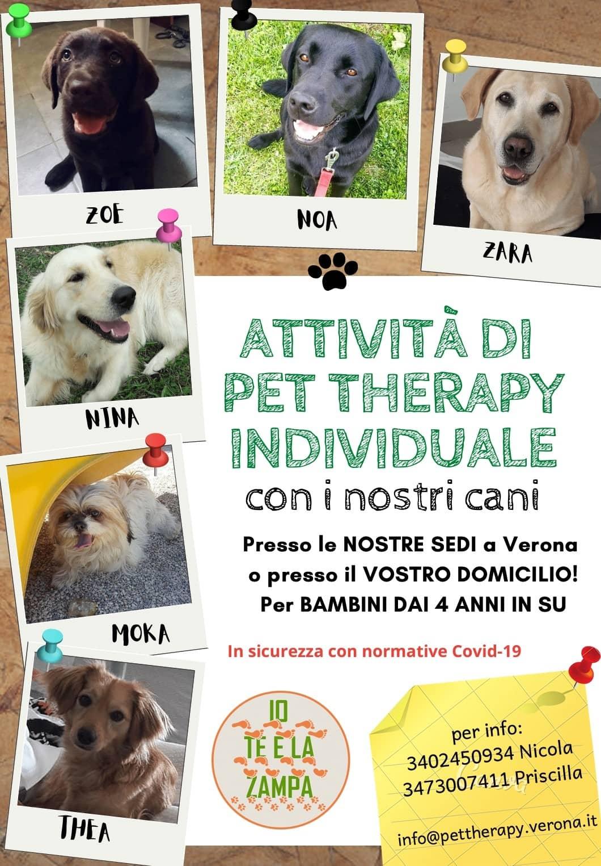 Attività di Pet Therapy Individuale
